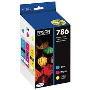 Epson 786 Genuine Original (OEM) ink cartridges, T786520 (pack of 3)