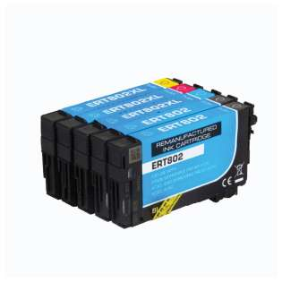 Remanufactured inkjet cartridges Multipack for Epson 802 - 4 pack