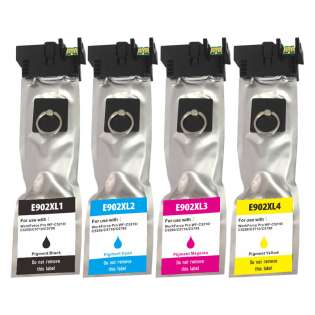 Remanufactured inkjet cartridges Multipack for Epson 902XL - 4 pack