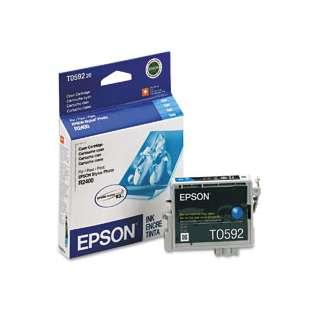 Epson T059220 Genuine Original (OEM) ink cartridge, cyan