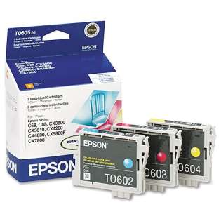 Epson 60 Genuine Original (OEM) ink cartridges (pack of 3)