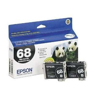 Epson 68 Genuine Original (OEM) ink cartridges (pack of 2)