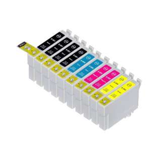 Remanufactured Epson 69 ink cartridges (contains 10 cartridges)