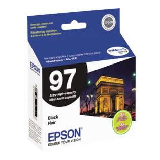 Epson 97, T097120 Genuine Original (OEM) ink cartridge, extra high capacity yield, black