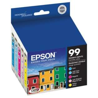 Epson 99 Genuine Original (OEM) ink cartridges (contains 5 cartridges)
