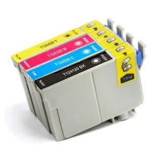 Remanufactured Epson 124 ink cartridges (pack of 4)
