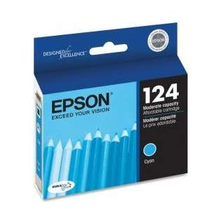 Epson 124, T124220 Genuine Original (OEM) ink cartridge, cyan