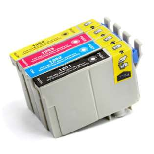 Remanufactured Epson 125 ink cartridges (pack of 4)