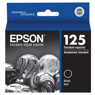Epson 125, T125120 Genuine Original (OEM) ink cartridge, black