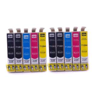 Remanufactured Epson 126 ink cartridges, high capacity yield, 10 pack
