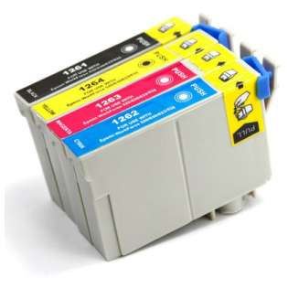 Remanufactured Epson 126 ink cartridges, high capacity yield (pack of 4)