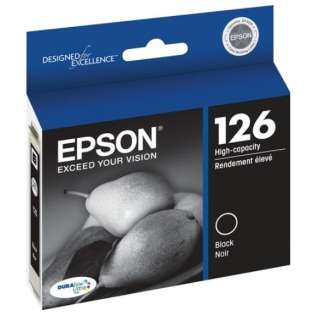 Epson 126, T126120 Genuine Original (OEM) ink cartridge, high capacity yield, black