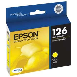 Epson 126, T126420 Genuine Original (OEM) ink cartridge, high capacity yield, yellow