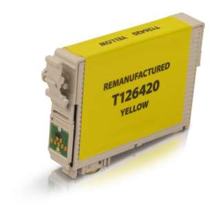 Remanufactured Epson T126420 / 126 cartridge - high capacity yellow