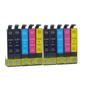 Remanufactured Epson 127 ink cartridges, extra high capacity yield, 10 pack