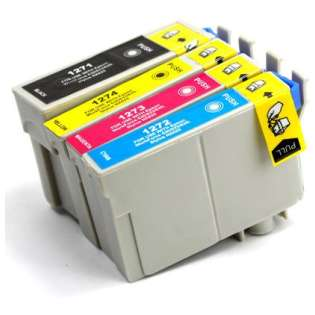 Remanufactured Epson 127 ink cartridges, extra high capacity yield (pack of 4)