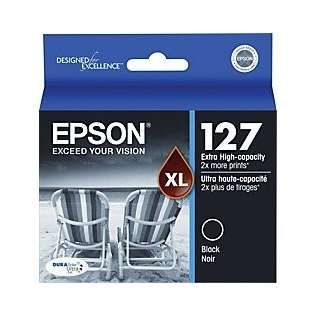 Epson 127, T127120 Genuine Original (OEM) ink cartridge, extra high capacity yield, black