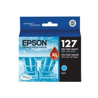 Epson 127, T127220 Genuine Original (OEM) ink cartridge, extra high capacity yield, cyan