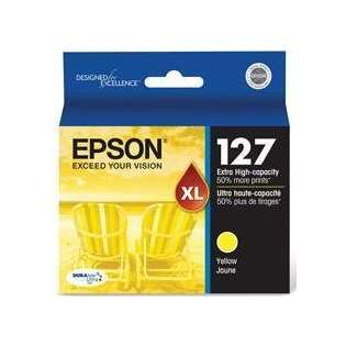 Epson 127, T127420 Genuine Original (OEM) ink cartridge, extra high capacity yield, yellow