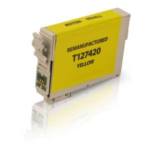 Remanufactured Epson T127420 / 127 cartridge - extra high capacity yellow