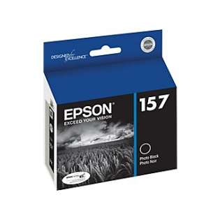 Epson 157, T157120 Genuine Original (OEM) ink cartridge, photo black