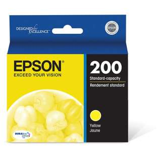 Epson 200, T200420 Genuine Original (OEM) ink cartridge, yellow