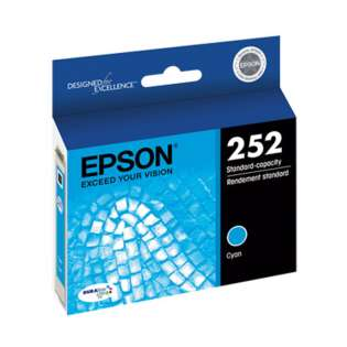 Epson 252, T252220 Genuine Original (OEM) ink cartridge, cyan, 300 pages