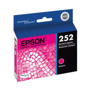 Epson 252, T252320 Genuine Original (OEM) ink cartridge, magenta, 300 pages