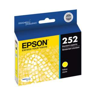 Epson 252, T252420 Genuine Original (OEM) ink cartridge, yellow, 300 pages