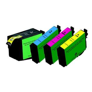 Remanufactured Epson 252XL ink cartridges, high capacity yield (pack of 4)