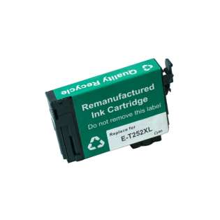 Remanufactured Epson T252XL220 / 252XL cartridge - high capacity pigmented cyan (also replaces Epson 252), 1100 pages