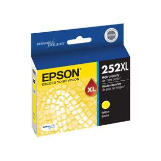Epson 252XL, T252XL420 Genuine Original (OEM) ink cartridge, yellow, 1100 pages