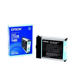 Epson T485011 Genuine Original (OEM) ink cartridge, light cyan