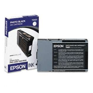 Epson T543100 Genuine Original (OEM) ink cartridge, photo black