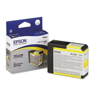 Epson T580400 Genuine Original (OEM) ink cartridge, yellow