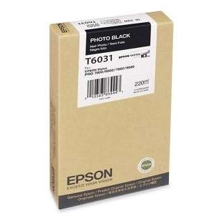 Epson T603100 Genuine Original (OEM) ink cartridge, photo black