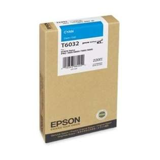 Epson T603200 Genuine Original (OEM) ink cartridge, cyan