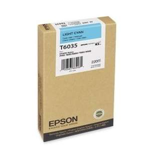 Epson T603500 Genuine Original (OEM) ink cartridge, light cyan