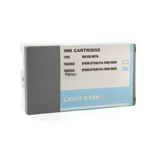 Remanufactured Epson T603500 ink cartridge, light cyan