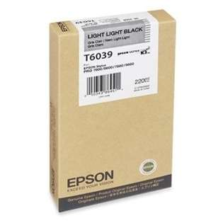 Epson T603900 Genuine Original (OEM) ink cartridge, light light
