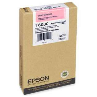 Epson T603C00 Genuine Original (OEM) ink cartridge, light magenta, 220 pages