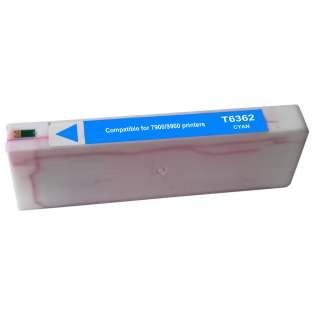 Remanufactured Epson T636200 ink cartridge, cyan