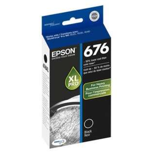 Epson 676XL, T676XL120 Genuine Original (OEM) ink cartridge, high capacity yield, black