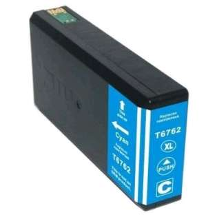 Remanufactured Epson 676XL, T676XL220 ink cartridge, high capacity yield, cyan