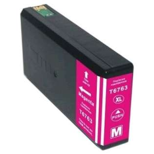 Remanufactured Epson 676XL, T676XL320 ink cartridge, high capacity yield, magenta