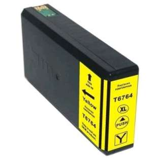 Remanufactured Epson 676XL, T676XL420 ink cartridge, high capacity yield, yellow