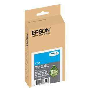 Epson 711XXL, T711XXL220 Genuine Original (OEM) ink cartridge, extra high capacity yield, cyan