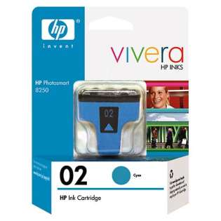 HP 02, C8771WN Genuine Original (OEM) ink cartridge, high capacity yield, cyan