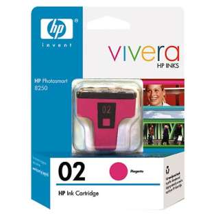 HP 02, C8772WN Genuine Original (OEM) ink cartridge, high capacity yield, magenta