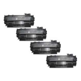 Compatible HP 05A, CE505A toner cartridges (pack of 4)